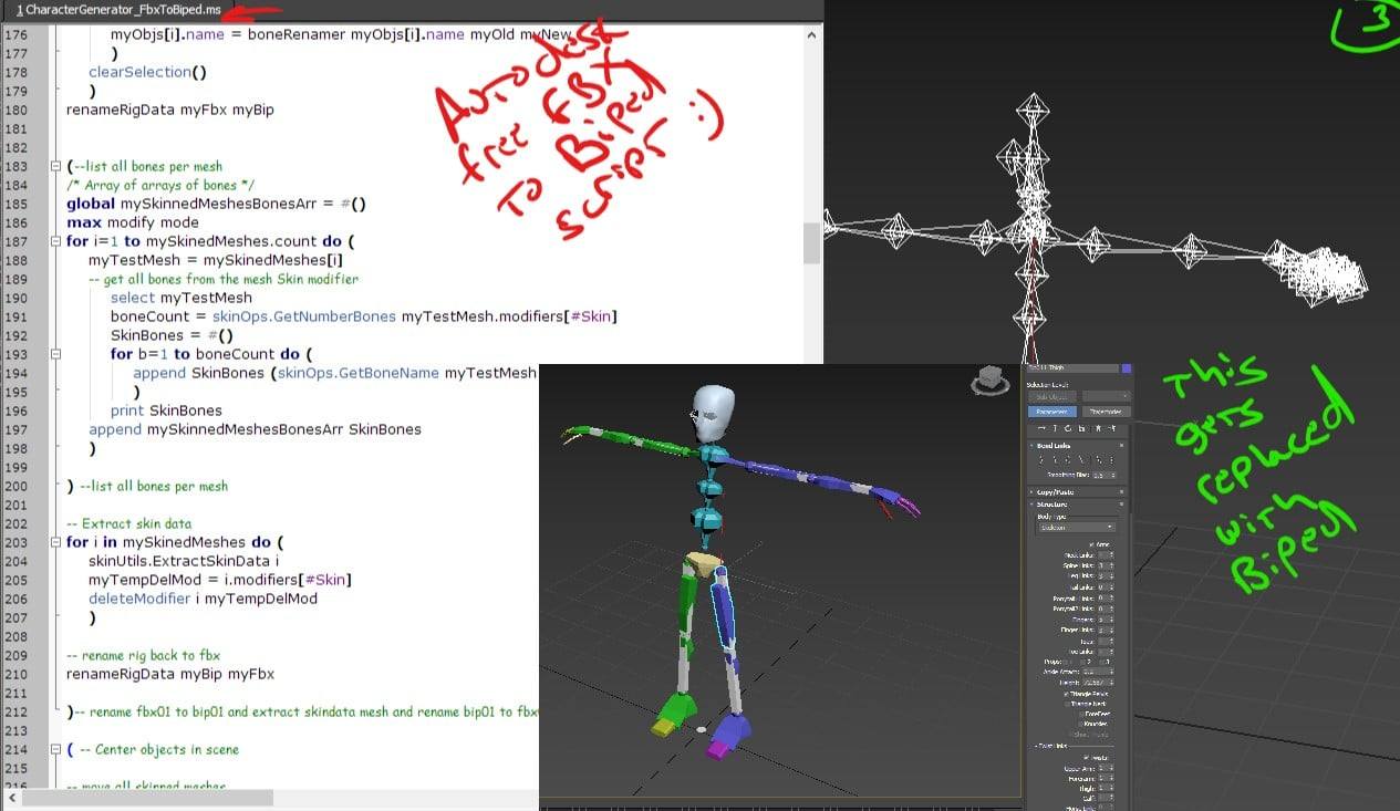 FBX to Biped : There and Back Again