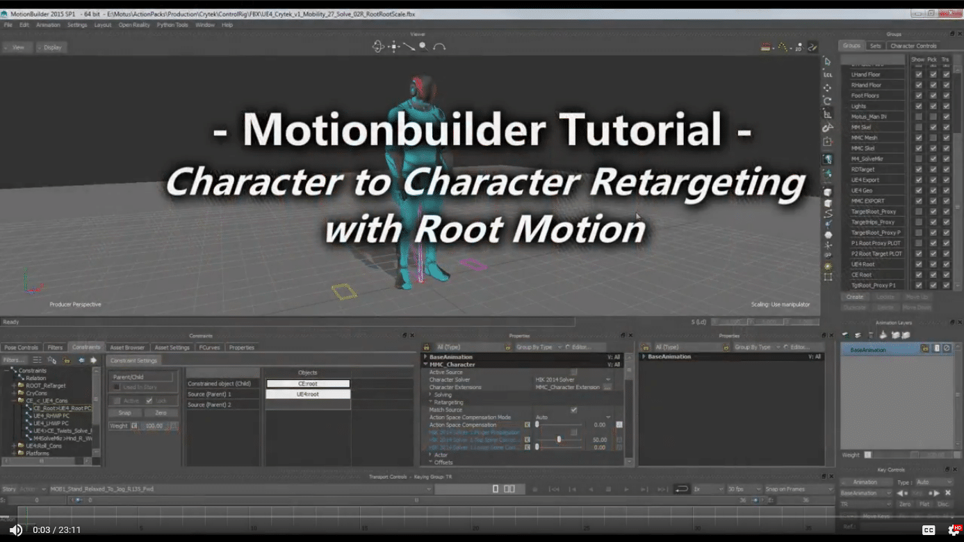 Animation Retargeting mocap online - motionbuilder ue4 root motion animation